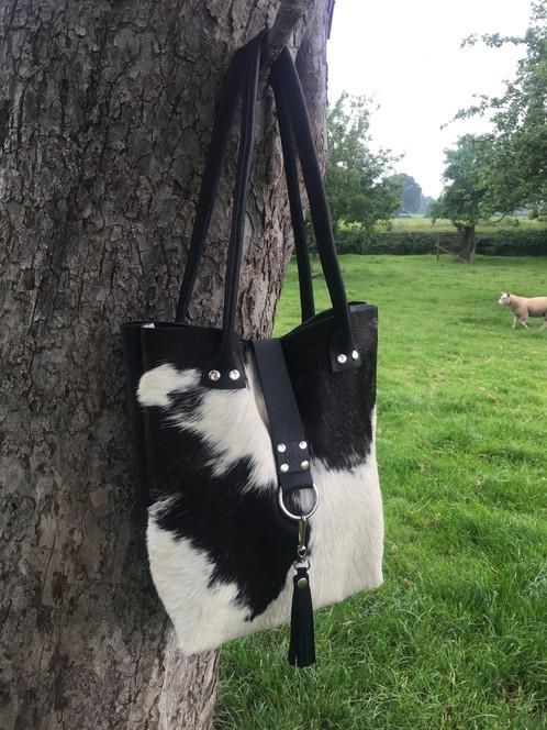 Handmade Cow Hide Handbag