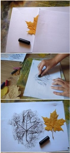 Knutselen: tekening van blad
