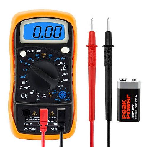 Digital Voltmeter Ammeter Ohmmeter Multimeter Volt AC DC Tester Meter