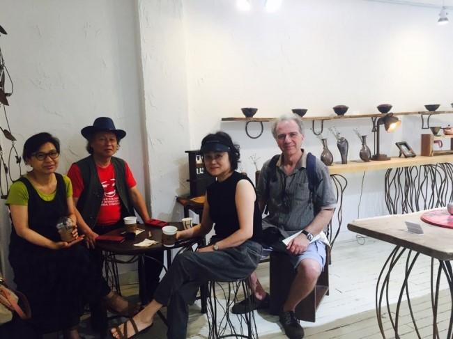 김용문 작가 방문시 2016