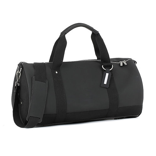 E1MDUFSILAD-Black Duffel Bags (Medium)