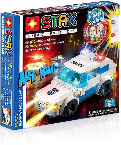 STAX Hybrid Flashing Police Car Building Bricks