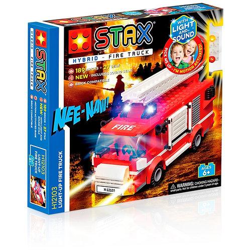 STAX Hybrid Light up Fire Truck Building Bricks