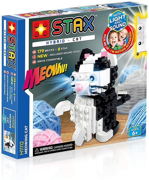 STAX Hybrid Meowing Cat Building Bricks