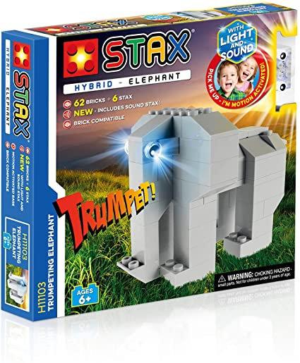STAX Hybrid Trumpeting Elephant Building Bricks