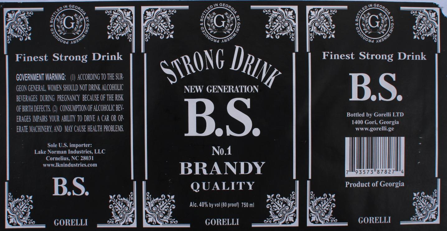 Gorelli BS Brandy Label