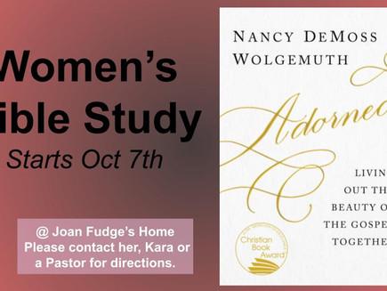 Women's LIFE Group Monday's 7p