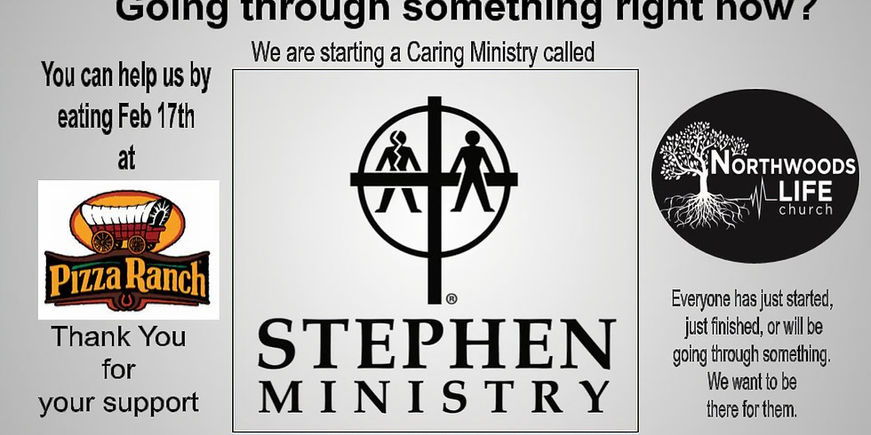 Pizza Ranch Fundraiser, Stephens Ministry