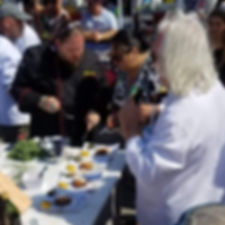 Brimstone | Brim judges at the Famous Food Festival