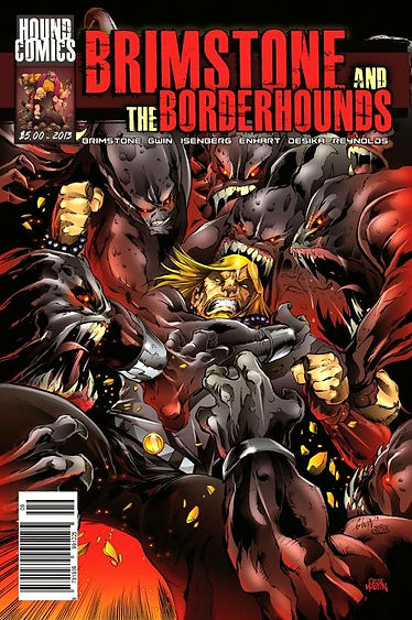Brimstone and The Borderhounds | Issue 9 Cover