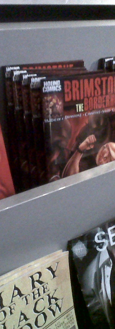 Brimstone and The Borderhounds on display at Barnes and Noble