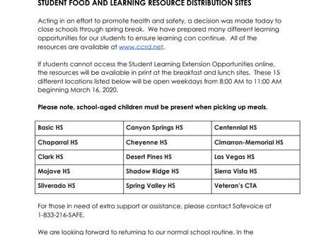 ALL CCSD SCHOOLS CLOSED UNTIL 4/16/2020