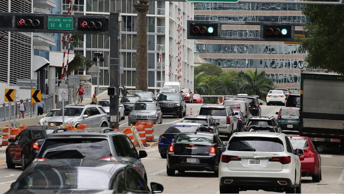 downtown traffic miami
