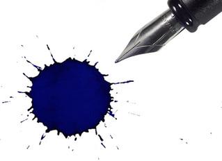 Me deixo levar pelo borrão de tinta