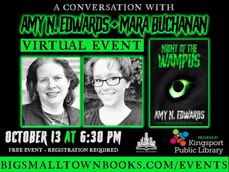 FREE VIRTUAL AUTHOR EVENT: A Conversation with Amy N. Edwards and Mara Buchanan (10/13)