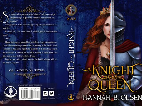 Full jacket art revealed for Hannah B. Olsen's A KNIGHT FOR A QUEEN