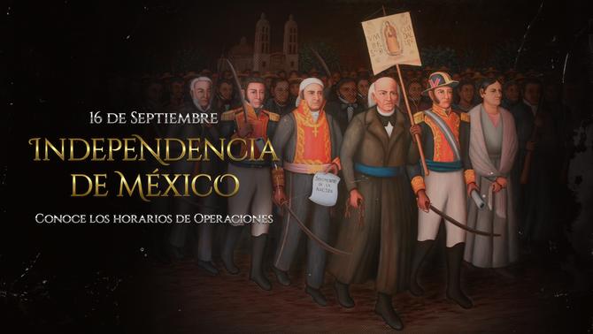 Aduana Mexicana - Horario 16 de Septiembre de 2019
