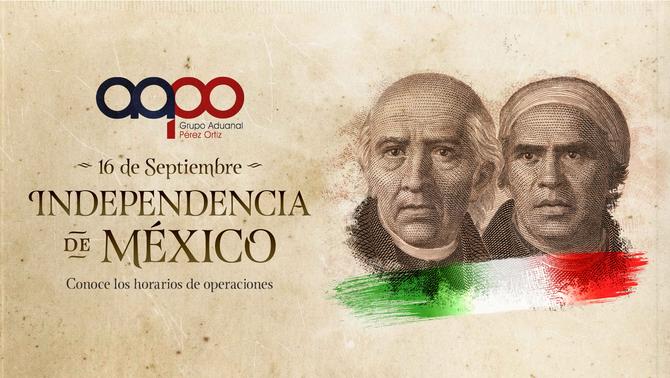 Aduana Mexicana - Horario 16 de Septiembre de 2020