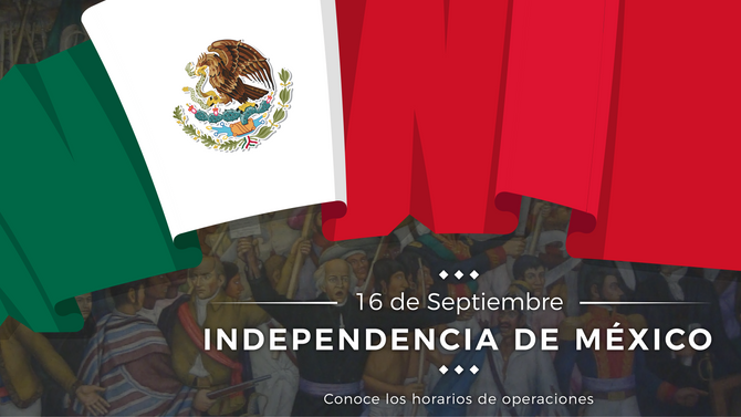 Aduana Mexicana - Horario 16 de Septiembre de 2018