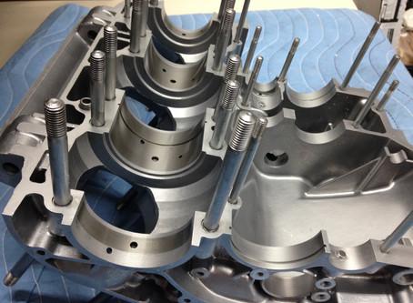 Vapor Blasting Kawasaki H2 750 engine parts