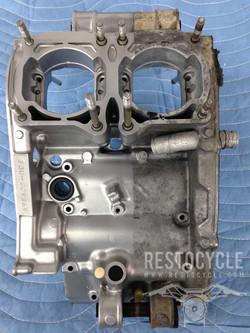 Yamaha Banshee Case Vapor Blasted