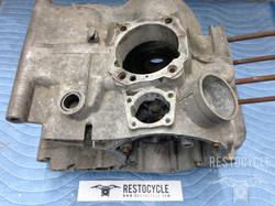 Ducati Pantah Cases Vapor Blasted