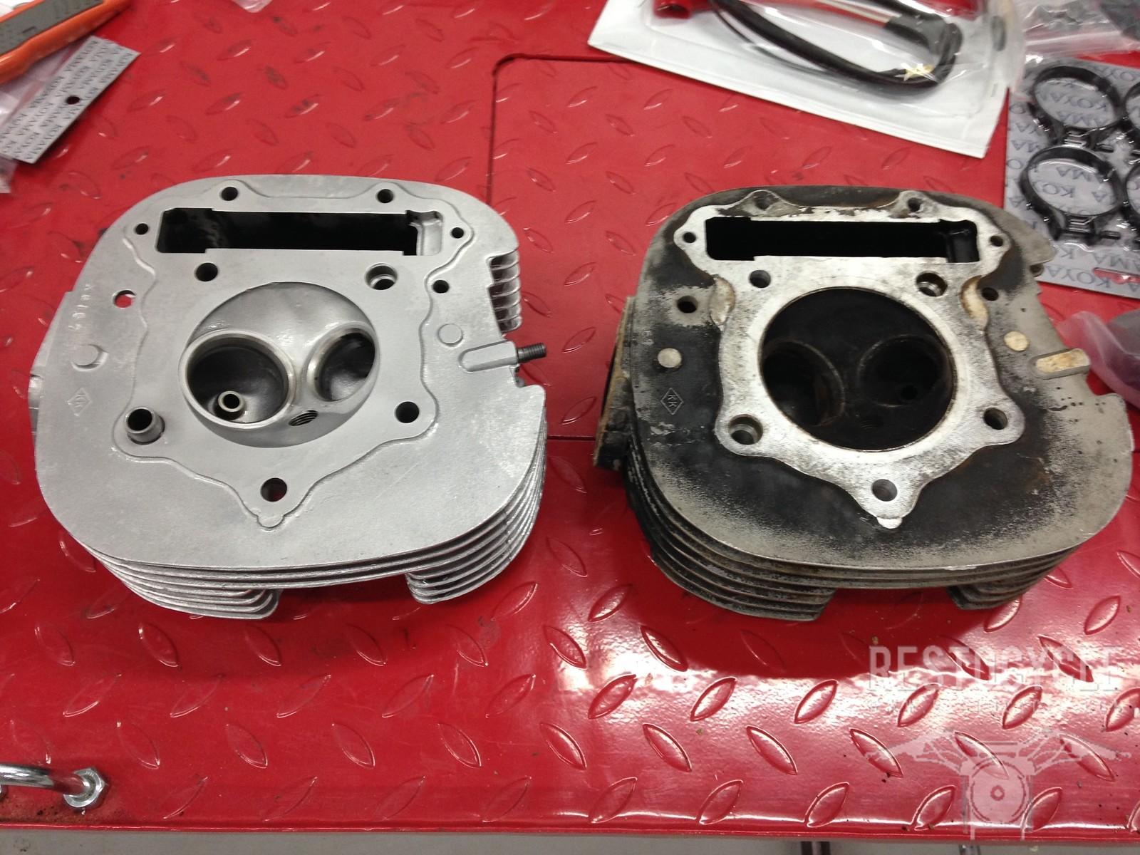 Yamaha Cylinder Head Vapor Blasted
