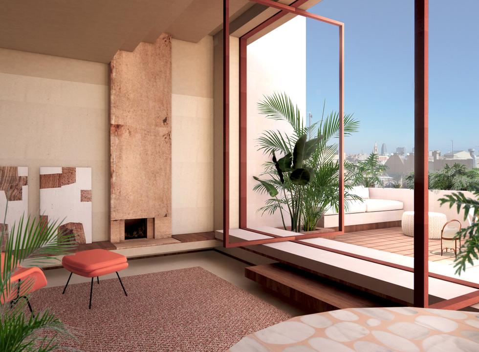 Penthouse en Paseo de Gracia, Barcelona by Elvira Guardia