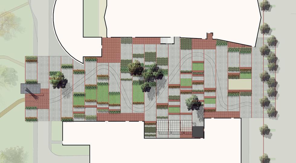 CAMPANILE urbanistical plan landscape by Elvira Guardia