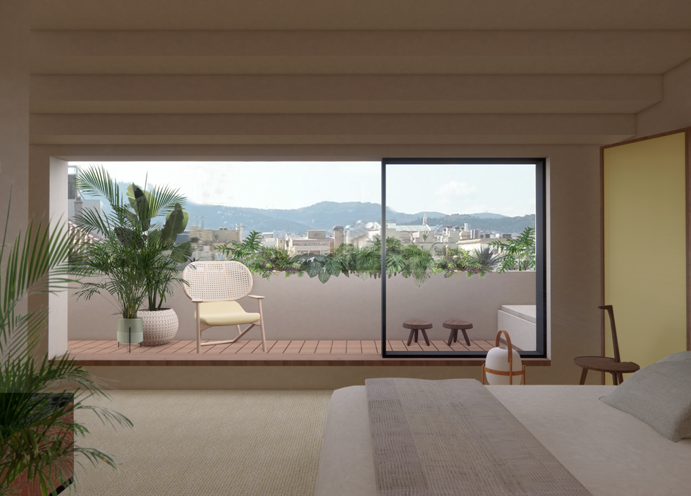 Penthouse en Paseo de Gracia, Barcelona by Elvira