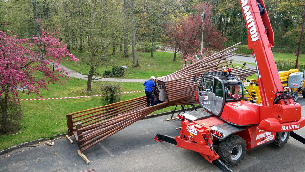 CAMPANILE construction site by Elvira Guardia