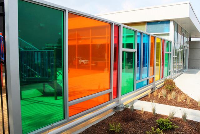 Building-glass-Orange-Solar-window-film-
