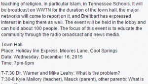 """""""Our Kids are Getting Indoctrinated"""" Road Show"""
