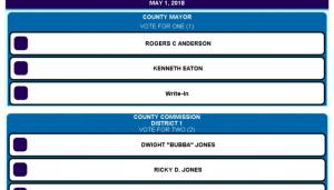 Williamson County Republican Ballot
