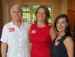 Beth Burgos with J. Lee Douglas and his wife Elizabeth McClurg