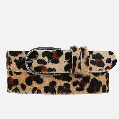 Amsterdam Heritage: Savanna | Animal print leopard leather belt