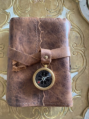 Binding Bee: Leather Journal with Compass
