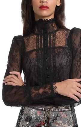 In Earnest: Victorian Lace Top in Black