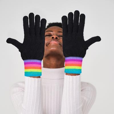 Brodie Cashmere: Stripe Gloves