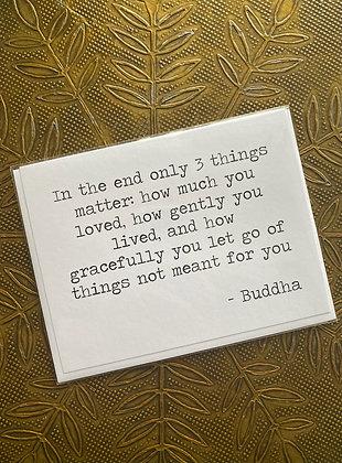 Poetic Wax: Buddha Card