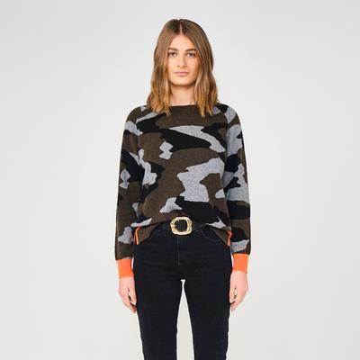 Brodie Cashmere: Coco Camo Cashmere Sweater