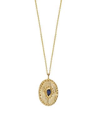 Louise Hendricks: Verine in Iolite | Brass Gold Plated Necklace