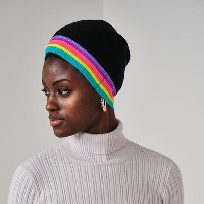 Brodie Cashmere: Stripe Cashmere Hat