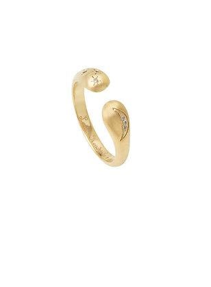 Louise Hendricks: Toi & Moi Céleste ring | gold plated