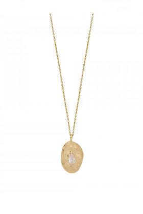 Louise Hendricks: Felix necklace white | 3-micron plated gold / white zircon