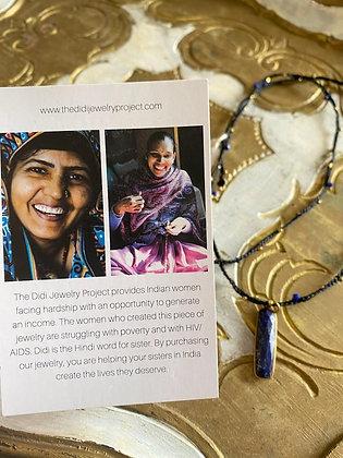 Didi Project: Line Necklace |  Blue Lapis
