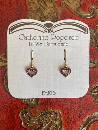 Catherine Popesco  La Vie Parisienne: Red Heart earrings