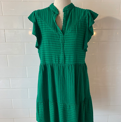 Self Contrast: Relaxed Tiered Dress