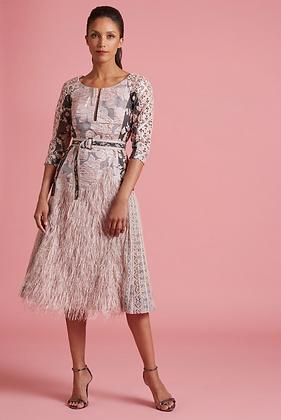 Byron Lars: Pink Pearl Viennese Waltz Fit & Flare Dress