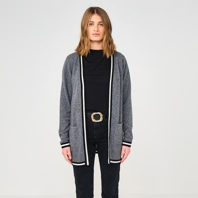Brodie Cashmere: Uptown Jacket in Camel and Grey